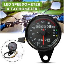 Universal Motorrad Tachometer Tacho Kilometerzähl LED Kontrollleuchte 160 Km/h