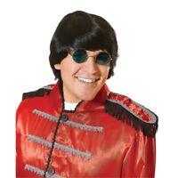 60's Black Men's Groovy Wig - 60s 1960s Fancy Dress Beatles Accessory Costume