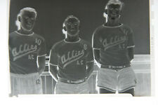 (1) B&W Press Photo Negative Teenage Boys Sports Uniform Allies Ac T1295