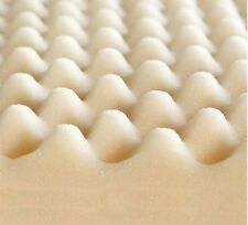 Foam Topper Convulated Pad Cal-King Size Bed Mattress Cover Egg Crate 3 Inch New