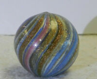 #11798m Large .78 Inches German Handmade Onionskin Lutz Marble