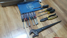 Mix set of Klien hand tools , spud wrench, screw driver, journey man plier