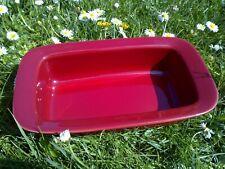 Plat à four Emile Henry France 19.72, céramique rouge/ Dimensions: 14X24 cm