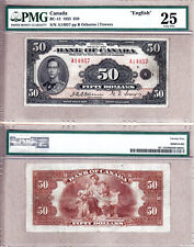 PMG VF25 1935 $50 Bank of Canada Prince Albert; English Note, BC-13