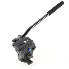 PRO Hydraulic Video Fluid Tripod Ball Head+Quick Release Plate+Handle for Camera