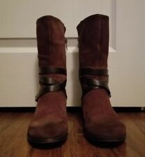 UGG Deanna Chocolate Brown Leather Suede 1001791 Boots SIZE 5 (bota500