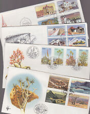 South West Africa SWA 1981 FDC 4 Covers Luderitz Salt Works Aloe Flowers Rocks