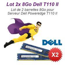 Lote 2x 8Go 16Go RAM Servidor Dell T110 II Dimm 240-PIN DDR3 PC3-10600E ECC 2Rx8