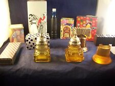 11 Avon Collector Bottles ,Radio, Telephone, Liberty bell Full + Boxes