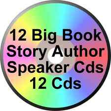 ONE DOZEN 12 BIG BOOK STORY AUTHOR SPEAKER CDS ALCOHOLICS ANONYMOUS Dr EARLE M +