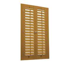 "Faux Wood DIY Plantation 2 1/4"" Interior Shutter Kits 31"" W"