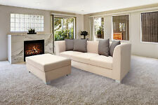 CORNER SOFA BED MAYA WITH DETACHABLE FOOTSTOOL W/STORAGE, ALL COLOURS AVAILABLE