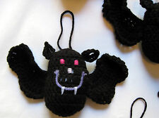 HANDMADE Knit CROCHET Hanging BATS Kids TOY DOLL for HALLOWEEN Holiday CHRISTMAS