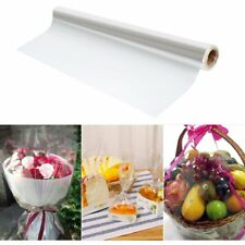 100m X 80cm Clear Florist & Craft Cellophane Roll Plain Film Gift Wrap Hamper