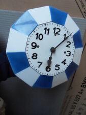Ancienne pendule clock horloge hur faience style lustucru art deco cuisine