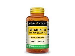 100 Softgels Advanced D3 5000 IU Bone Health Calcium Absorption Immune System
