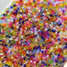 Wholesale 4000PCS 2mm Czech Glass Seed Spacer beads Jewelry Making DIY 22 Color