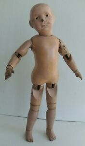 Schoenhut Spring Jointed Wood Character Doll Antique