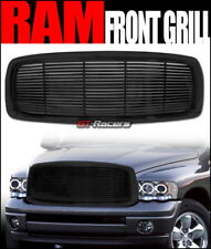 FOR 2002-2005 DODGE RAM BLACK HORIZONTAL BILLET FRONT BUMPER GRILL GRILLE GUARD