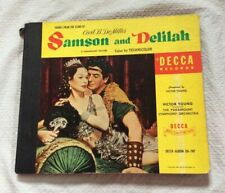 Samson And Delilah - Victor Young - Decca (Da-747) 1950 4x 78rpm Box Set Usa Ex