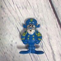 """VINTAGE Captain Crunch Figure Blue Cereal Prize Premium Cap'n Pvc - 2"""" Tall"""