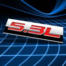 METAL 3D EMBLEM DECAL LOGO TRIM BADGE STICKER POLISHED CHROME RED 5.3L 5.3 L
