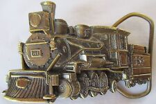 THE GREAT AMERICAN CHICAGO 1981 BRASS TRAIN BELT BUCKLE