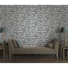 Marokkanische Wand weiß Schiefer Stein Tapete - Arthouse 623009 - Ziegel