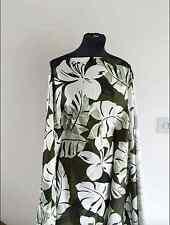 Earth Tones Tropical Leaf Comfort Stretch Cotton Sateen Dressmaking Fabric 1.35m