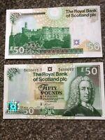 THE ROYAL BANK OF SCOTLAND PLC £50. Uncirculated, Consecutive Goodwin 2005, New