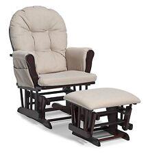 Baby Nursery Glider Rocker Rocking Chair Cherry Finish & with Ottoman NEW