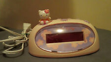Hello Kitty Digital Plastic Alarm Clock Bright Red LED Display KT3005P