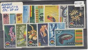 GHANA (MM402) # 48-60,C1-C2  VF-MNH VARp,sh 1959 BIRDS,FLOWERS ++ CAT VALUE $18