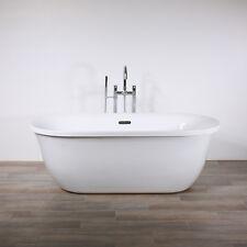 "Freestanding Bathtub Genoa 67"" Oval Acrylic Tub with Chrome Drain - NO FAUCET"
