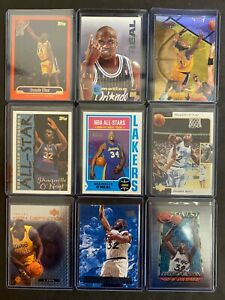 (9) Shaquille O'neal High End NBA Basketball Cards Inserts 9 COUNT LOT (S2)