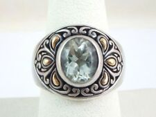 Samuel B Behnam BJC green amethyst 18K  Sterling Silver 925 Prasiolite  Ring