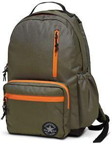 Converse Go Backpack Green Orange Black - School Laptop Sleeve Travel Bag