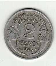 RARE TTB + 2 FRANCS ALU type morlon  1945 C