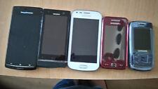 Six smartphones: Samsung 250i, Samsung 168, Sg GT-7580,Sony Xpéria, Sony BA 600.