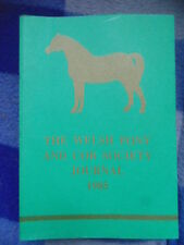 THE WELSH PONY AND COB SOCIETY JOURNAL 1985
