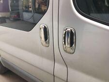 Vauxhall Opel Vivaro 2004-2015 Chrome Door Handle + Rim Cover 5Door S.Steel