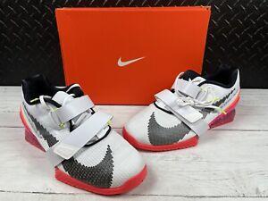 "Nike Romaleos 4 SE, Men's 11 ""Rawdacious"" DJ4487-121 White/bright Crimson/pink"