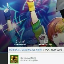 Persona 4 Dancing All Night Platinum Trophy (NA) -PS4- (price negotiable)