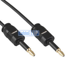 1m Mini Toslink 3.5mm Fibre Optic Digital Audio Jack to Jack Cable OD 2.2mm