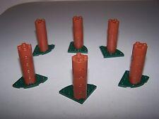 LEGO® CASTLE minifigure TREE TRUNK LOT x6 plant hobbit green brown cylinder