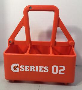 Gatorade Squeeze Bottle Holder Caddy Carry Case G Series 02 Sport Drink Orange