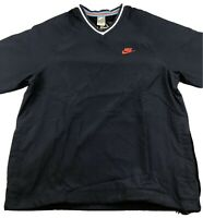 Nike Baseball 72 Mesh Lined V-Neck Pullover Windbreaker Jacket Blue Mens Large
