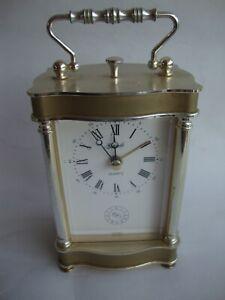Hermle Quartz Carriage Alarm Clock