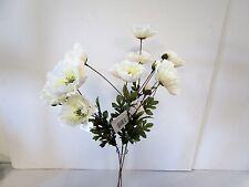 Paquete De 3 74cm Artificial Crema Amapola De Flores-planta decorativa remberance