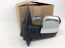 Ford F-150 Driver Side Chrome Side View Mirror Camera Puddle Lamp Blind Spot OEM